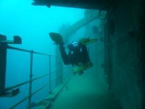 Diver at Canterbury Wreck July 2008