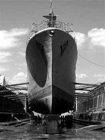 Ex-HMNZS Cantebury Dry Dock