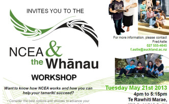 NCEA & the Whanau Workshop